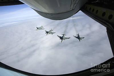 Formation Of Luftwaffe F-4f Phantom IIs Poster by Gert Kromhout