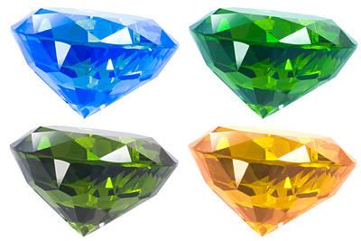 Four Diamond Poster by Atiketta Sangasaeng