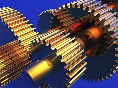 Gear Wheels, Artwork Poster by Pasieka