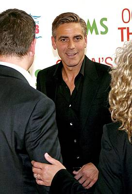 George Clooney At Arrivals For Oceans Poster by Everett