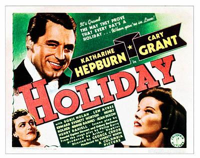 Holiday, Cary Grant, Katharine Hepburn Poster by Everett