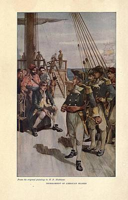 Impressment Of American Seaman Poster by Everett