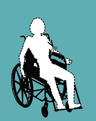 Isolation Through Disability, Artwork Poster by Stephen Wood