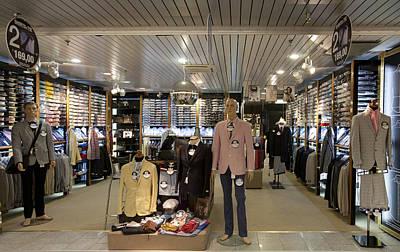 Italian Fashion Shop For Men Tallinn Poster by Jaak Nilson