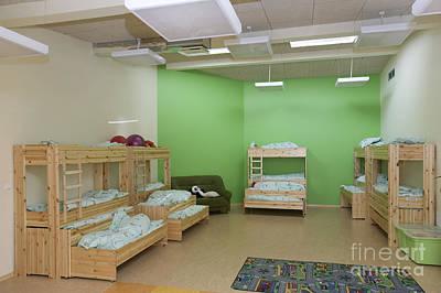 Kindergarten Nap Room Poster by Photographer Jaak Nilson/ Architect Priit Matsi