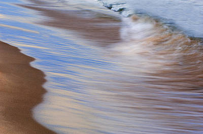 Lake Michigan Surf Poster by Dean Pennala