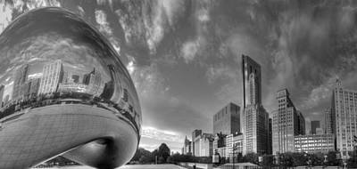 Millennium Park In Black And White Poster by Twenty Two North Photography