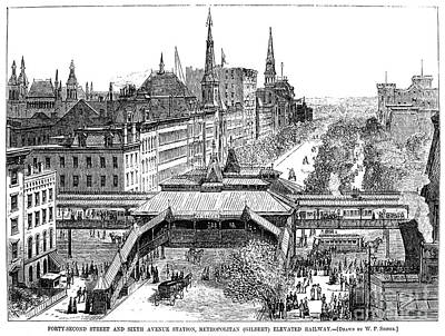 New York: El Train, 1878 Poster by Granger