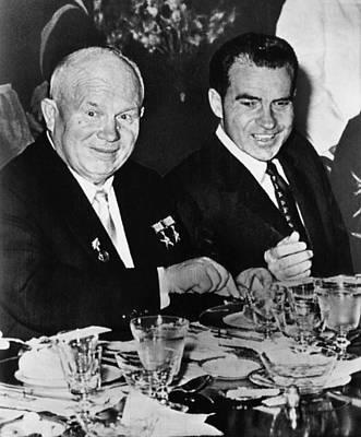 Nixon Vice Presidency. Soviet Premier Poster by Everett