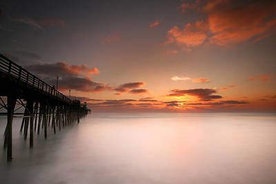Oceanside Sunset 8 Poster by Larry Marshall
