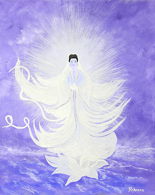 Quan Yin Poster by Judy M Watts-Rohanna