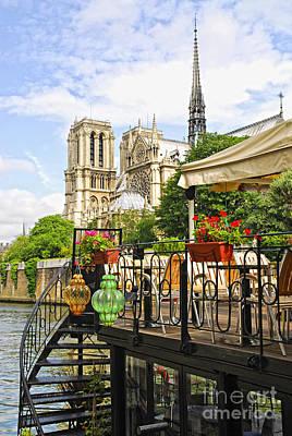 Restaurant On Seine Poster by Elena Elisseeva