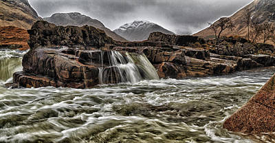 River Etive Poster by Fiona Messenger