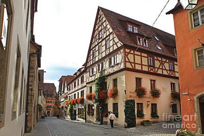 Rothenburg Medieval Old Town  Poster by Amit Strauss