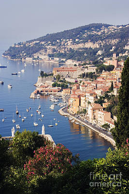 Seaside Town Of Villefranche Sur Mer In Southern France Poster by Jeremy Woodhouse