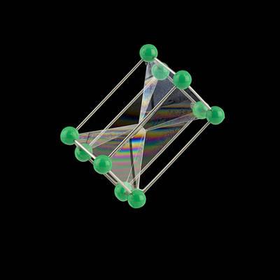 Soap Bubbles On A Pentagonal Prism Frame Poster by Paul Rapson