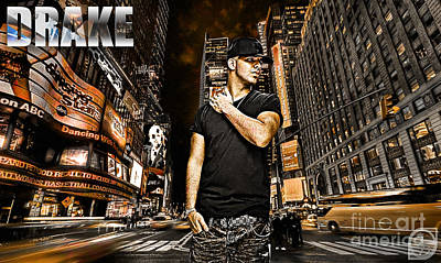 Street Phenomenon Drake Poster by The DigArtisT