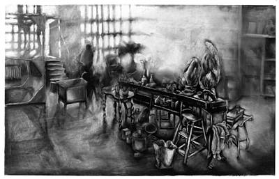 Studio Loft At Dawn Lic New York Poster by Al Goldfarb