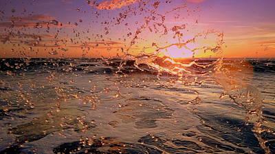 Sunset Splash Poster by Jeremy Smith