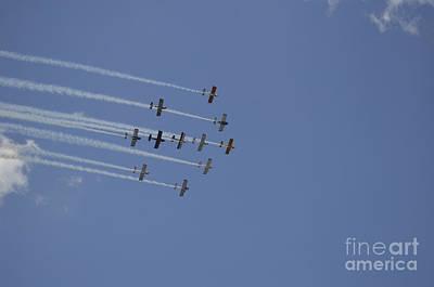 Team Rv Aerobatics Team Poster by Stocktrek Images