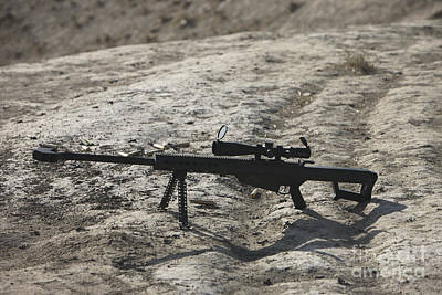 The Barrett M82a1 Sniper Rifle Poster by Terry Moore