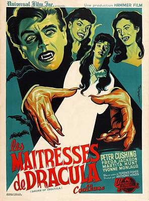 The Brides Of Dracula Aka Les Poster by Everett