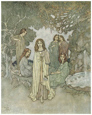 The Garden Of Paradise Poster by Edmund Dulac