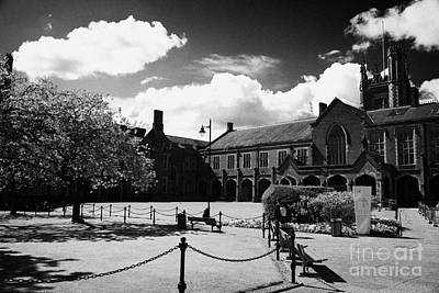 the quad inside the main lanyon building site of Queens University Belfast Northern Ireland UK Poster by Joe Fox