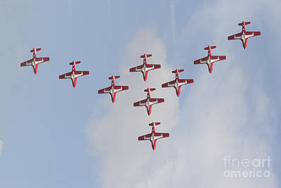 The Snowbirds 431 Air Demonstration Poster by Terry Moore