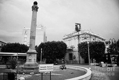 The Venetian Column In Ataturk Square Nicosia Trnc Turkish Republic Of Northern Cyprus Poster by Joe Fox