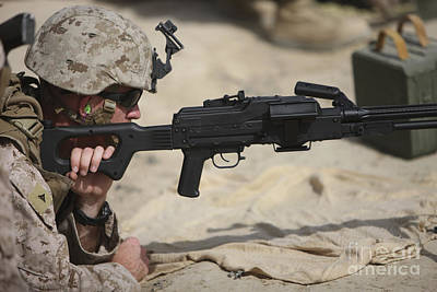 U.s. Marine Prepares To Fire A Pk Poster by Terry Moore