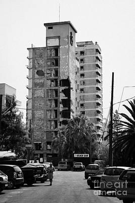 Varosha Forbidden Zone With Salaminia Tower Hotel Abandoned In 1974 Turkish Invasion Famagusta Poster by Joe Fox
