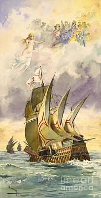Vasco Da Gama, Portuguese Explorer Poster by Photo Researchers