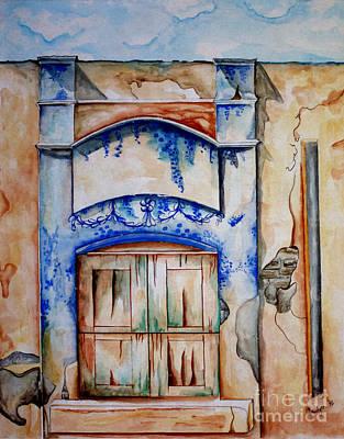 Window From Santiago Poster by Kandyce Waltensperger