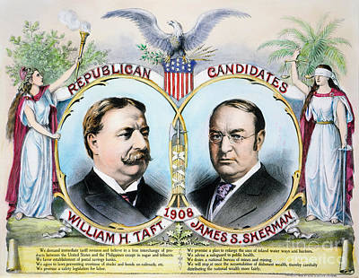 Presidential Campaign, 1908 Poster by Granger