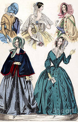 Womens Fashion, 1842 Poster by Granger