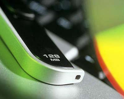 128mb Usb Memory Stick Poster by Steve Horrell