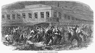 New York: Draft Riots, 1863 Poster by Granger