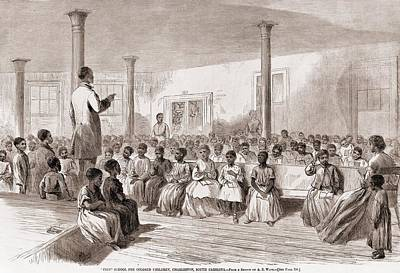 1866 Classroom Of Zion School Poster by Everett