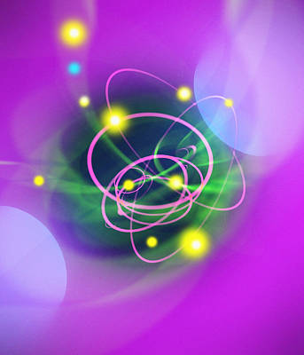 Subatomic Particles Abstract Poster by Mehau Kulyk