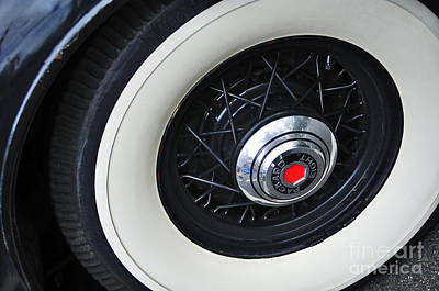 1934 Packard Eight - Rear Wheel Poster by Kaye Menner