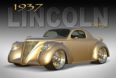 1937 Lincoln Zephyr Poster by Mike McGlothlen