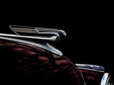 1940 Chevy Hood Ornament Poster by Douglas Pittman