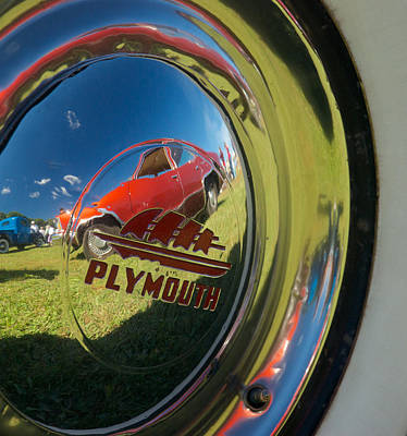 1947 Plymouth Coupe Hubcap Poster by Mark Dodd
