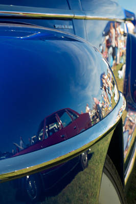1947 Plymouth Coupe Reflection Poster by Mark Dodd