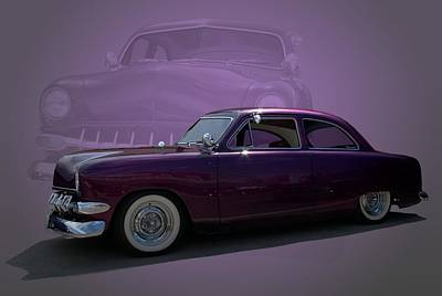 1950 Custom Ford Street Rod Poster by Tim McCullough