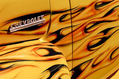 1952 Chevrolet Pickup Truck Emblem Poster by Jill Reger