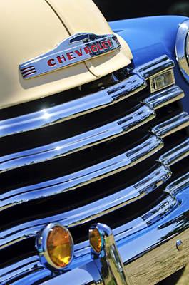 1956 Chevrolet 3100 Pickup Truck Grille Emblem Poster by Jill Reger