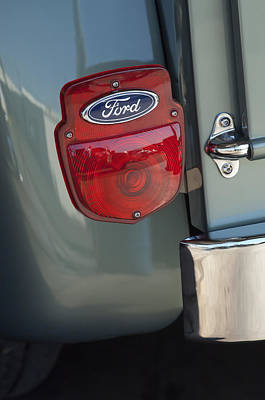 1956 Ford F-100 Truck Taillight Poster by Jill Reger