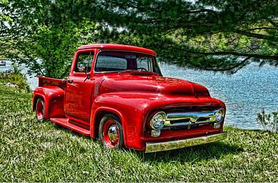 1956 Ford F100 Pickup Truck Poster by Tim McCullough